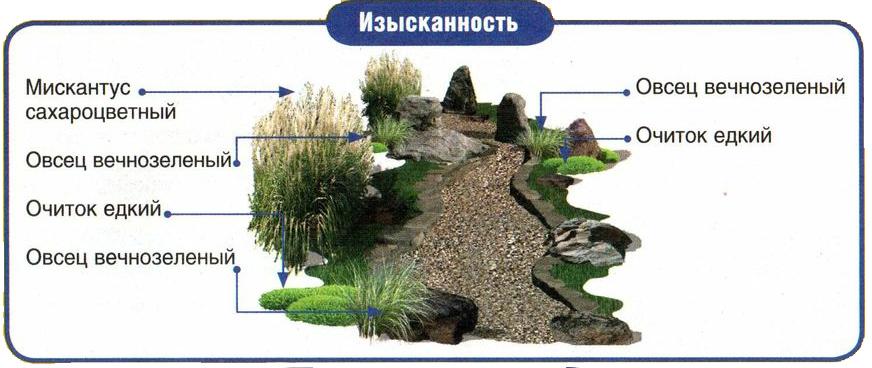 Фото схемы сухого ручья