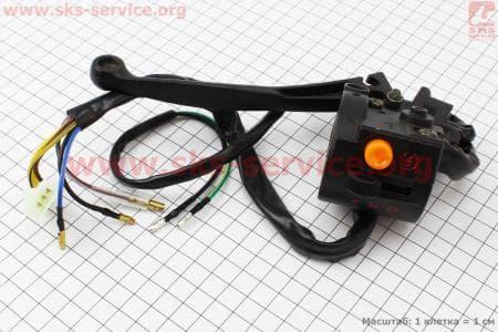 Блок кнопок на руле правый с рычагом для мопедов ALPHA (Viper) купить в Украине