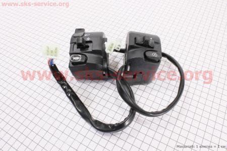 Блок кнопок на руле лев., правый к-кт 2шт для мопедов SPORT50 MX50V(Suzuki) (Viper) купить в Украине