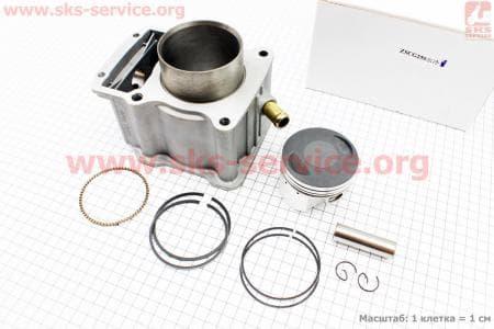 CG250-OHV Цилиндр к-кт (цпг) 200cc - 67мм - водяное охлаждение купить в Украине