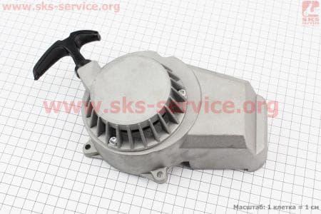 ATV детский - Крышка двигателя с ручным стартером в сборе (метал серый), тип. 2 купить в Украине