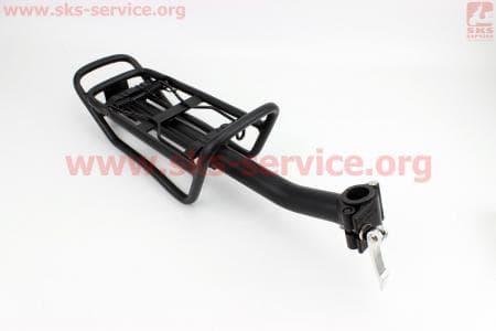 Багажник 24 - 26 алюминий, цельносварной, крепл. за трубу сидения, черный  для велосипедов