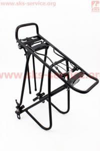 Багажник 24 - 26 алюминий, цельносварной, черный для велосипедов