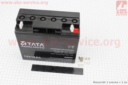 Аккумулятор 12V/18Аh (гелевый, черный) 180/77/165мм для мотоблока