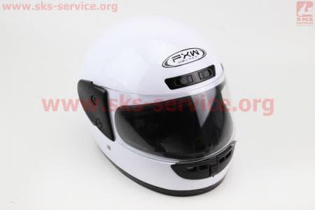Шлем закрытый HF-101 M- БЕЛЫЙ глянец