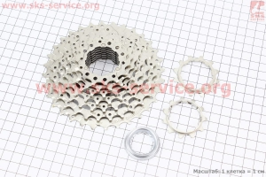 Кассета 9зв. 32,28,24,21,18,16,14,12,11Т, хром ALIVIO CS-HG400 для велосипеда