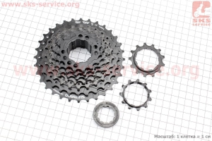 Кассета 9зв. 32,28,24,21,19,17,15,13,11Т, черная ACERA CS-HG200 для велосипеда