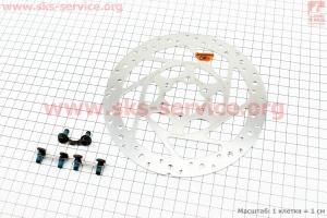 Тормозной диск 160мм, под 6 болтов, SM-RT51 для велосипеда