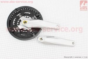 Шатун (крепление квадрат) 170мм, 44.32.22T к-кт МТВ, алюминиевые, серые FC-M431 для велосипеда