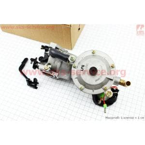Газовый карбюратор LPG (пропан-бутан)  для генераторов 4-6кВт (механизм рычажный) для двигателя D177F/188F