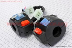 Блок кнопок на руле левый + правый к-кт для китайских скутеров