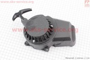 ATV детский - Крышка двигателя с ручным стартером в сборе (метал черный), тип. 1 для квадроцикла