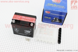 Аккумулятор 5Аh UTX5L-BS (кислотный, сухой) 112/70/105мм, 2018