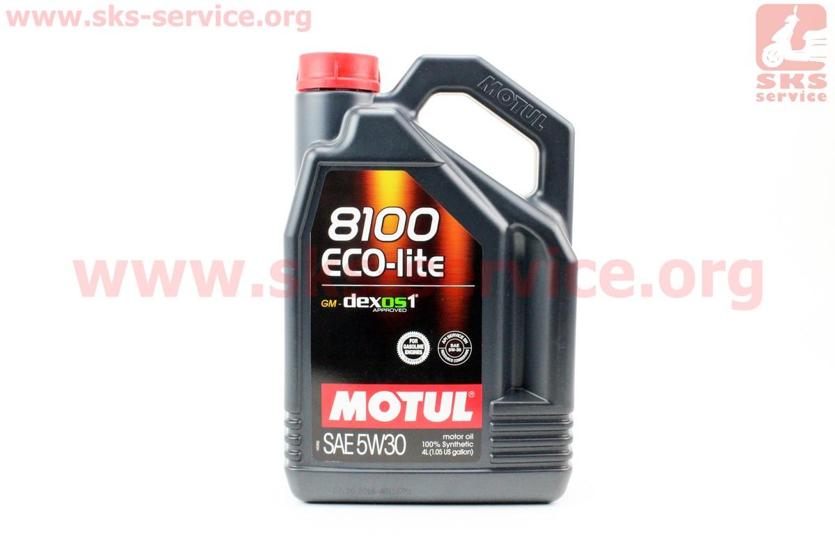 4T-8100 ECO-lite 5W-30 масло для бензиновых двигателей, синтетическое, 4л