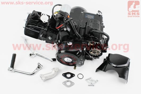 Двигатель мопедный в сборе 110куб (Active) - автомат, черный