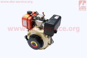 Двигатель мотоблочный в сборе под шлиц ?25мм+стартер 6 л.с. 178FЕ (HT-105) ZUBR