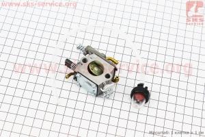 Карбюратор  для  китайских бензопил  4500/5200 с подкачкой, + подкачка топлива пузырек