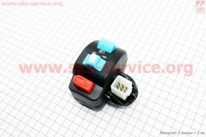 Блок кнопок на руле левый (без рычага)  для китайских скутеров Wind (Viper)