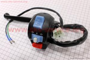 Блок кнопок на руле левый с рычагом  для китайских скутеров Wind (Viper)