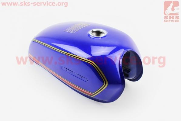 Бак топливный СИНИЙ для мопеда ALPHA (Viper)