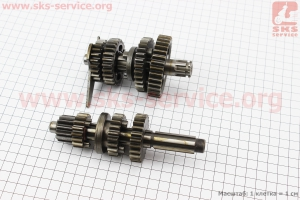 Коробка передач (два вала с шестернями), для двигателей LF140 для ПИТБАЙКА - PIT BIKE Viper V125P (ENDURO)