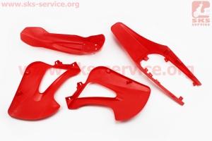пластик - ВЕСЬ к-кт деталей - 6ед. КРАСНЫЙ для ПИТБАЙКА - PIT BIKE Viper V125P (ENDURO)