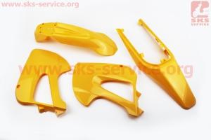 пластик - ВЕСЬ к-кт деталей - 6ед. ЖЕЛТЫЙ для ПИТБАЙКА - PIT BIKE Viper V125P (ENDURO)