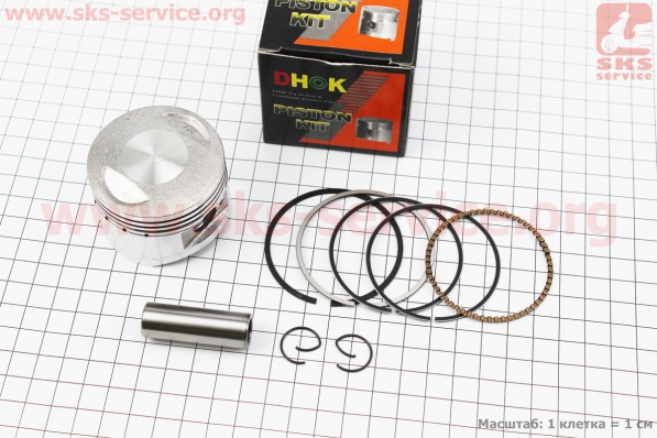 Поршень, палец, кольца к-кт 125сс 54мм +0,50 (палец 14мм) для ПИТБАЙКА - PIT BIKE Viper V125P (ENDURO)