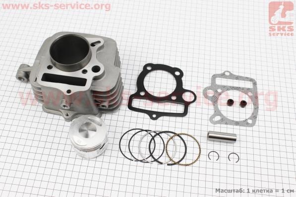 Цилиндр к-кт (цпг) 125сс-54мм (палец 14мм, высота цилиндра 78,3мм), с ухом для ПИТБАЙКА - PIT BIKE Viper V125P (ENDURO)
