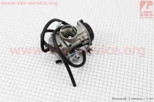 Карбюратор СGВ-200/250 (d=28), мембранный, дросель под трос на двигатель CG125-250cc (с толкателями), на ZUBR