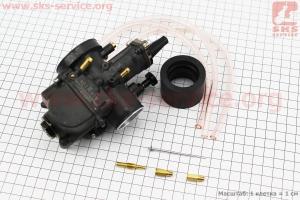 Карбюратор SPORT PWK 30 (d=30mm) с мех. заслонкой на двигатель CG125-250cc (с толкателями), на ZUBR