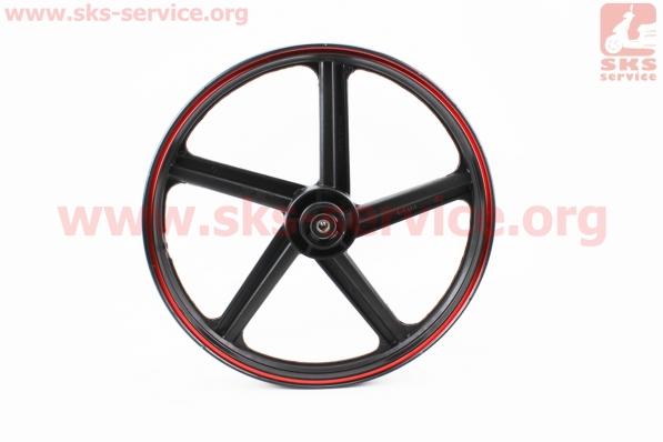"""Диск колесный передний литой под диск 18Х1,6 """"лучи""""  (ось 12мм), тип 1 для мотоцикла VIPER V150A (STREET)"""