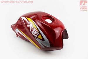 Бак топливный, КРАСНЫЙ, УЦЕНКА ( небольшая вмятина см. фото) для грузового мотоцикла Viper - ZUBR