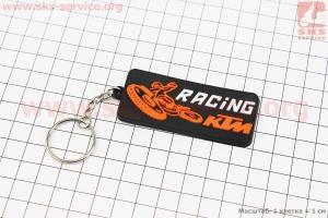 Брелок KTM racing, резиновый 68х30мм