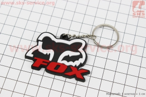 Брелок FOX, резиновый 57х36мм