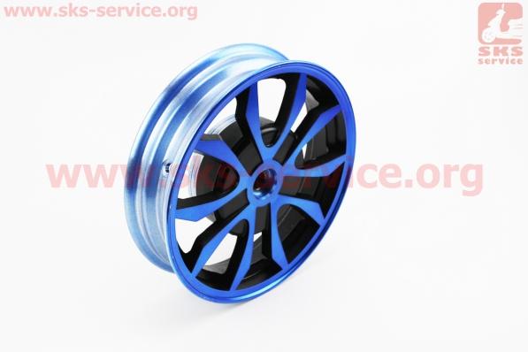 D02 Диск литой задний (бараб. торм., Wind) 2,15x10, синий для китайских скутеров