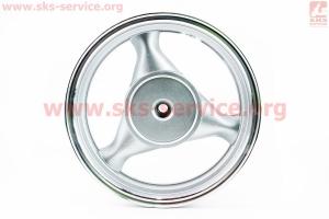 D08 Диск литой задний (бараб. торм. для 150сс)  MT3,5x13, серебристый для китайских скутеров