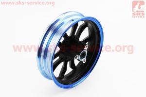 D20 Диск литой передний 2,15x10, синий (ось 12мм) для китайских скутеров