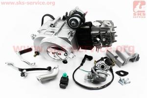 Двигатель мопедный в сборе 110куб (Active) - автомат + карбюратор, коммутатор, катушка