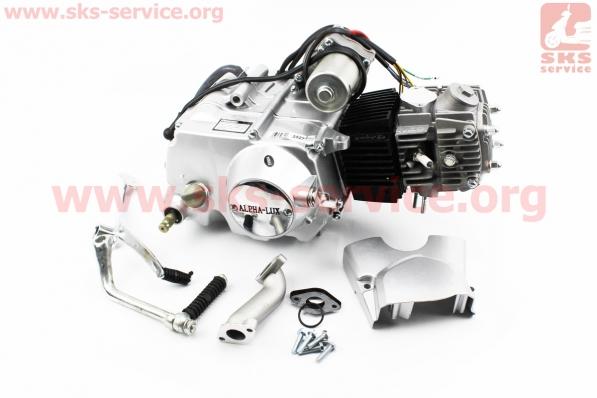 Двигатель мопедный в сборе 125куб (Delta) - механика