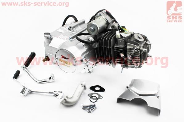 Двигатель мопедный в сборе 125куб (Delta) - механика (алюминиевый цилиндр)
