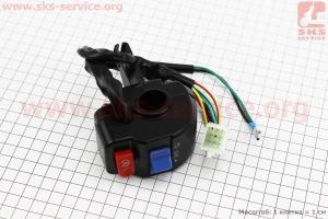 Блок кнопок на руле правый под барабанный тормоз, тип. 3 для скутеров Wind (Viper)