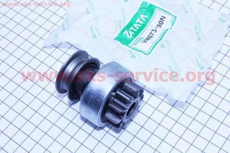 Бендикс электростартера Z=10, Lзуба=14мм R190N/195NM З/ч на двигатель дизельный R190N(NM)/R195N(NM)