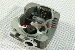 Головка цилиндра 150cc-62mm + клапана к-кт на двигатель CG125-250cc (с толкателями), на ZUBR