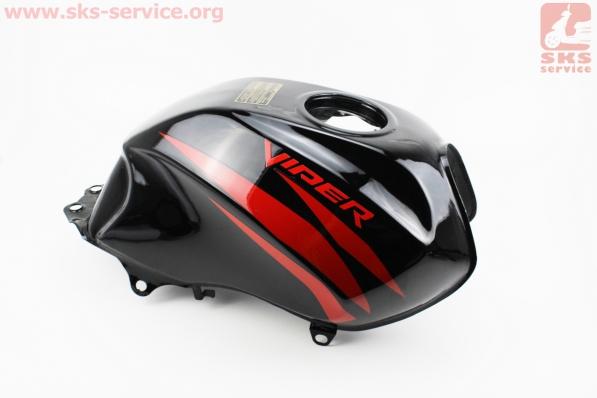 Бак топливный, ЧЕРНЫЙ, УЦЕНКА (см. фото) для мотоцикла VIPER V150A (STREET)