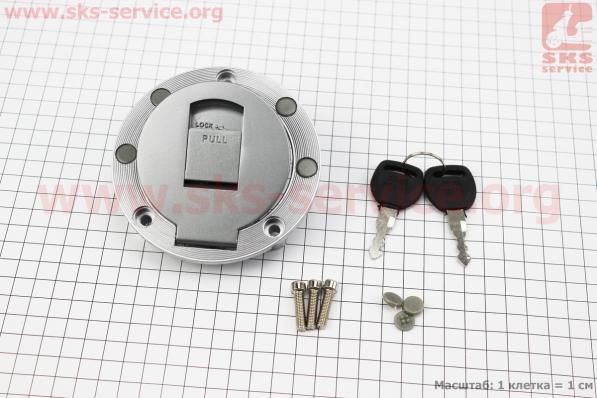 Крышка бака топливного круглая к-кт (корпус метал) для мотоцикла VIPER V150A (STREET)