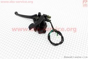 Рычаг газа и тормоза в сборе (со стояночным фиксатором) на ATV-квадроциклы разных моделей (Китай, импорт)