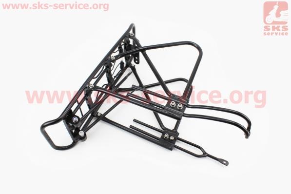 Багажник 24 - 26 алюминий, под дисковый тормоз, черный для велосипедов