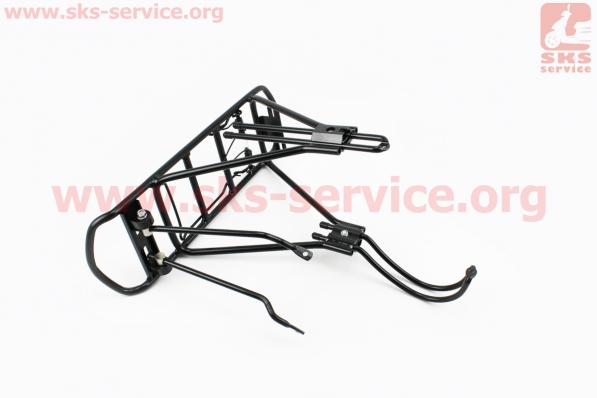 Багажник 24 - 26 алюминий, цельносварной, под дисковый тормоз, черный тип 2 для велосипедов