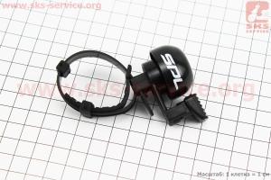 Звонок механический, крепл. на хомуте, черный SBL-709 для велосипедов